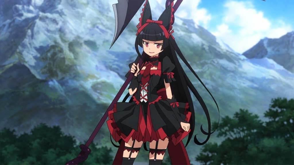 black haired anime girls